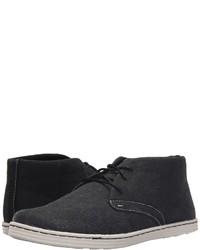 schwarze Chukka-Stiefel aus Segeltuch