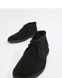 schwarze Chukka-Stiefel aus Wildleder von ASOS DESIGN