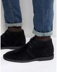 schwarze Chukka-Stiefel aus Wildleder von Asos