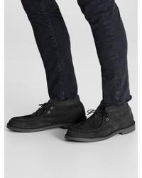 schwarze Chukka-Stiefel aus Wildleder von Jack & Jones