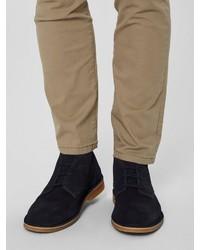 schwarze Chukka-Stiefel aus Wildleder von Selected Homme