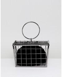 schwarze Clutch von ASOS DESIGN