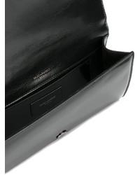 schwarze Clutch von Saint Laurent