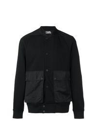 schwarze Collegejacke von Karl Lagerfeld