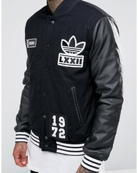 schwarze Collegejacke von adidas, €148 | Asos | Lookastic