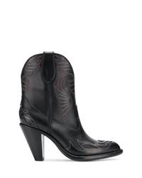 schwarze Cowboystiefel aus Leder von Givenchy