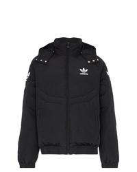 schwarze Daunenjacke von adidas