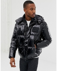schwarze Daunenjacke von Calvin Klein