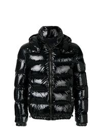 schwarze Daunenjacke von Versace