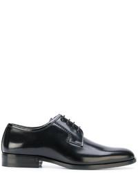schwarze Derby Schuhe von Saint Laurent