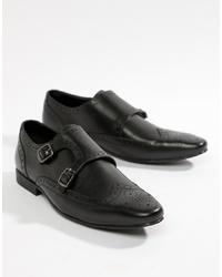 schwarze Doppelmonks aus Leder von Kg Kurt Geiger