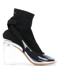 schwarze elastische Stiefeletten von MM6 MAISON MARGIELA