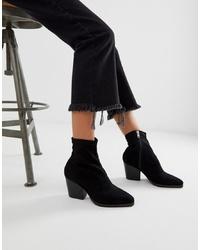 schwarze elastische Stiefeletten von Public Desire