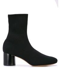 schwarze elastische Stiefeletten von Vince