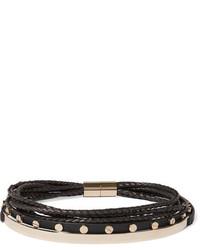 Schwarze Enge Halskette aus Leder von Givenchy
