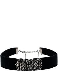 schwarze enge Halskette aus Samt von Dannijo
