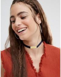 schwarze enge Halskette aus Satin von Made