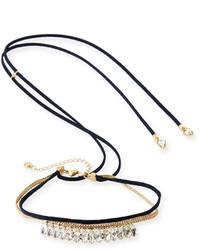 schwarze enge Halskette aus Wildleder