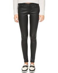 schwarze enge Hose aus Leder von AG Jeans