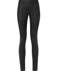 schwarze enge Hose aus Leder von Akris