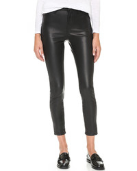 schwarze enge Hose aus Leder von Blank