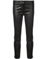 schwarze enge Hose aus Leder von Derek Lam
