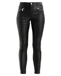 Schwarze Enge Hose aus Leder von Dorothy Perkins