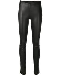 schwarze enge Hose aus Leder von Drome