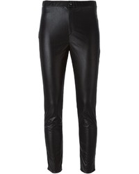 schwarze enge Hose aus Leder von Etoile Isabel Marant