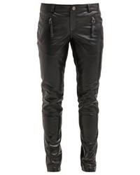 schwarze Enge Hose aus Leder von Gestuz