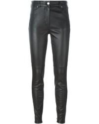 Schwarze Enge Hose aus Leder von Givenchy