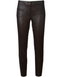 schwarze enge Hose aus Leder von Incotex