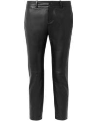 schwarze enge Hose aus Leder von Nili Lotan