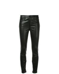 schwarze enge Hose aus Leder von Nobody Denim