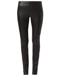 Schwarze Enge Hose aus Leder von Oakwood