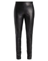 Schwarze Enge Hose aus Leder von Sand Copenhagen