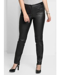 schwarze enge Hose aus Leder von SHEEGO STYLE