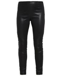 Schwarze Enge Hose aus Leder von Tigha