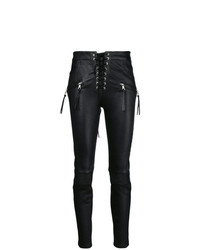 schwarze enge Hose aus Leder von Unravel Project