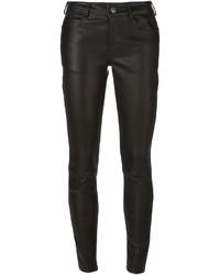 schwarze enge Hose aus Leder von Vanessa Bruno