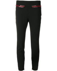 schwarze enge Hose aus Spitze von Alexander McQueen