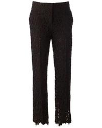 schwarze enge Hose aus Spitze von Valentino