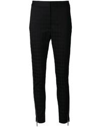 schwarze enge Hose mit Hahnentritt-Muster