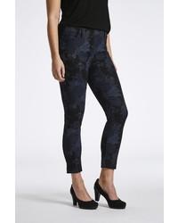 schwarze enge Jeans mit Blumenmuster von LauRie