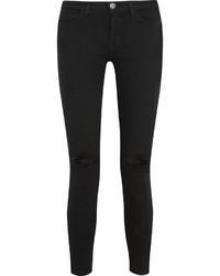Schwarze Enge Jeans mit Destroyed-Effekten von Current/Elliott