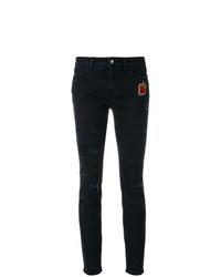 schwarze enge Jeans mit Destroyed-Effekten von Dolce & Gabbana