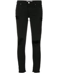 schwarze enge Jeans mit Destroyed-Effekten von IRO
