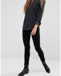 Schwarze Enge Jeans mit Destroyed-Effekten von Rock & Religion