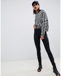 schwarze enge Jeans von Armani Exchange