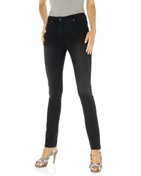 schwarze enge Jeans von ASHLEY BROOKE by Heine
